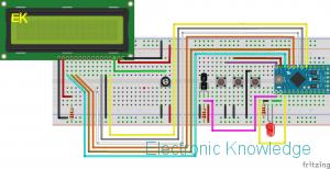 DS18B20 LCD Arduino Pro Mini